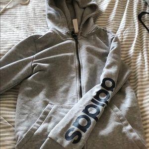 Adidas zip up hoodie sweatshirt